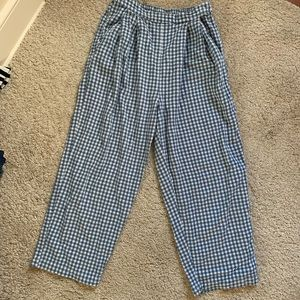 Urban outfitters blue gingham chef pants